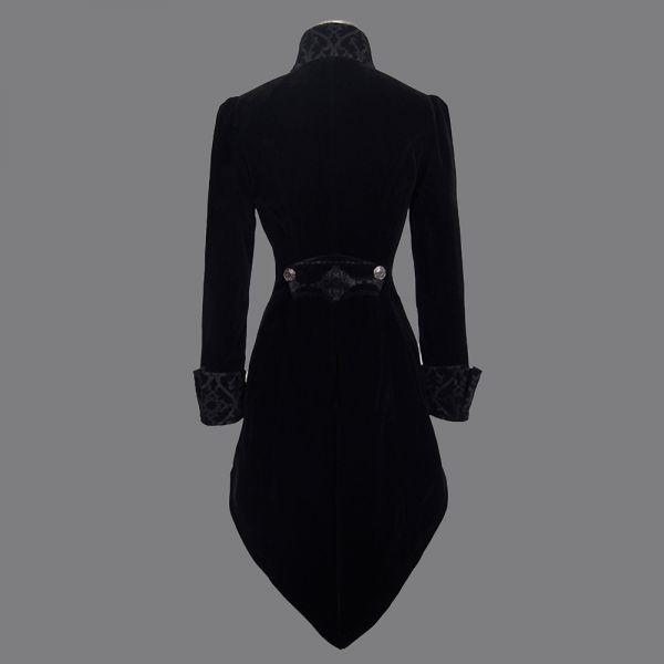 Samt Frack Mantel schwarz in viktorianischem Look