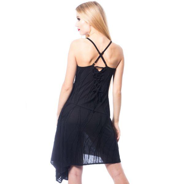 Asymmetrisches Slip Dress mit futuristischem Muster