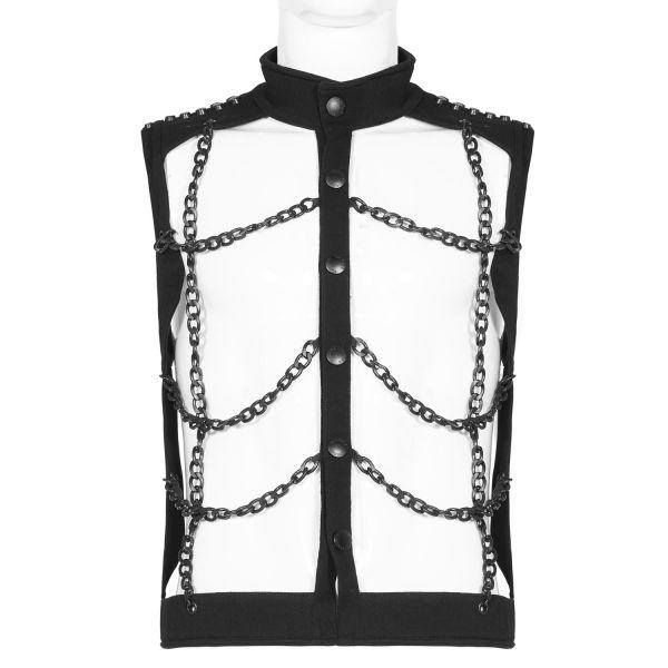 Kettenhemd Weste im Punk Fetisch Style