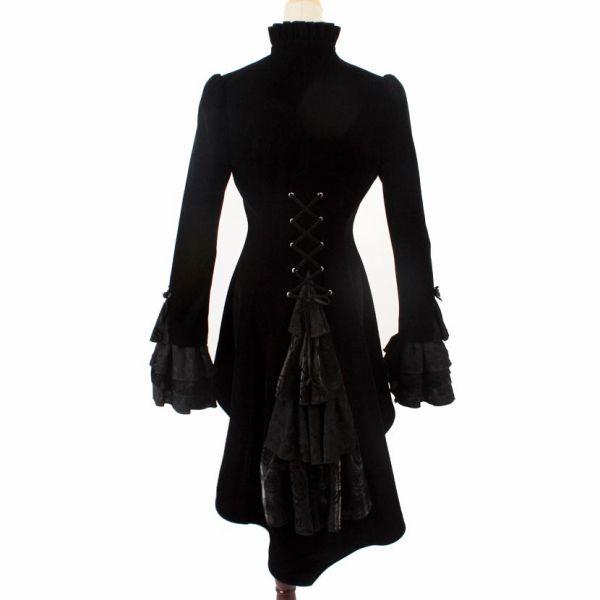 Viktorianischer Mantel mit Schleppe und Schnürung