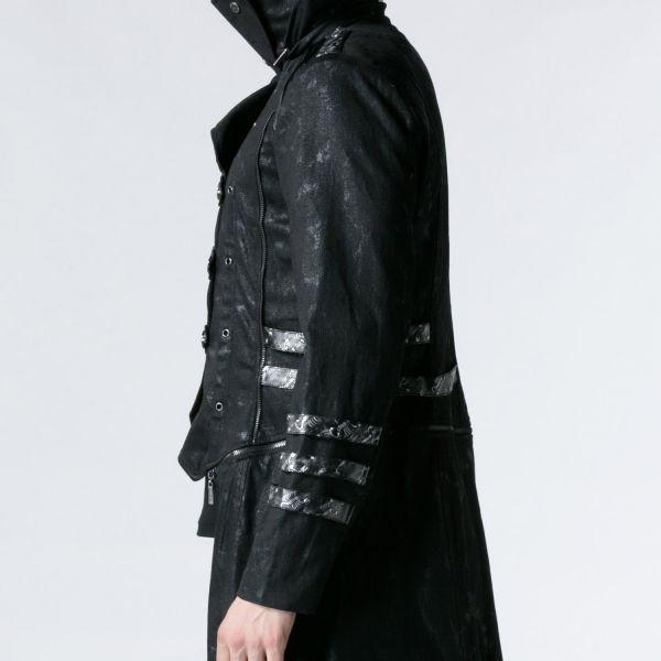 Mantel mit grosser Kapuze und abnehmbarer Schleppe