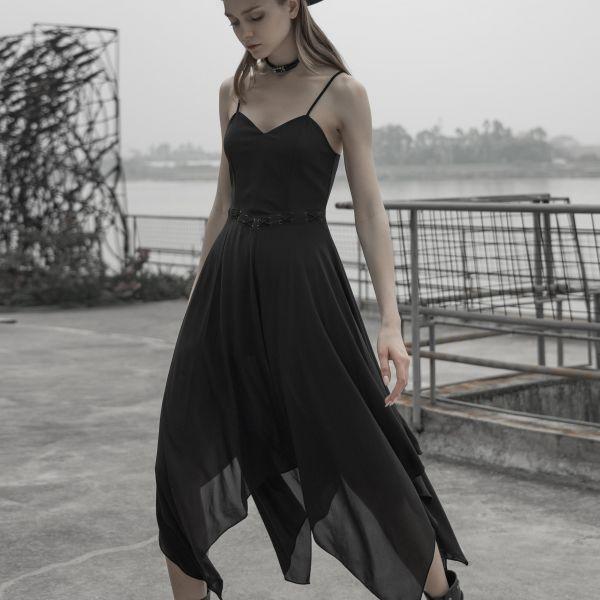 Slip Dress Sommerkleid mit asymmetrischem Rock