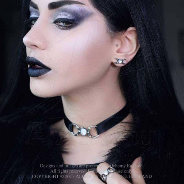 Wicca Mond Ohrstecker - Triple Goddess