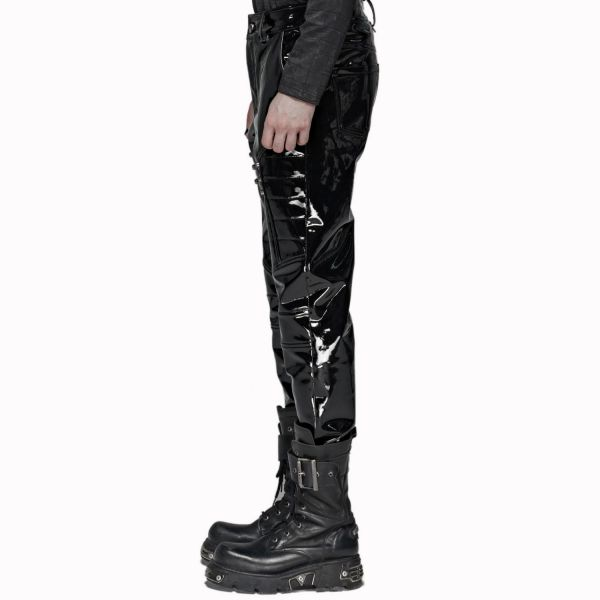 Fetisch Lack Hose mit Nieten