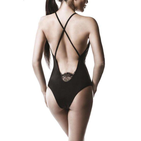 Sexy Body mit Spitze und tiefem V-Ausschnitt