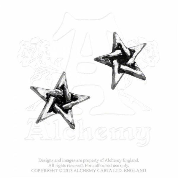 Mystik Pentagramm Ohrstecker