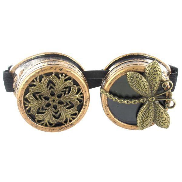Steampunk Brille mit Libelle und Ornament