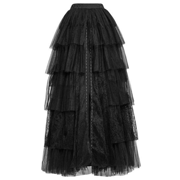 Langer schwarzer Tüllrock