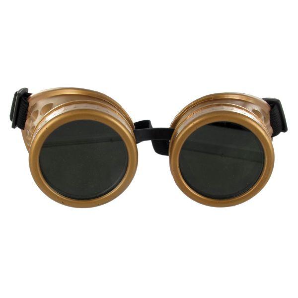 Cyber Goggles Steampunk Brille im Kupfer Look