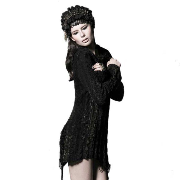 Longpullover in zerschlissenem Strick Vintage Look
