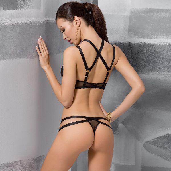 Reizwäsche Set im Fessel Look mit po-freiem Panty