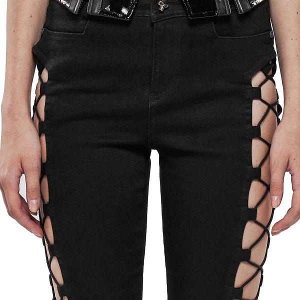 Skinny Jeans mit sexy Seitenschnürungen