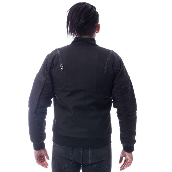 Jacke mit großen Arm-Taschen und Zipper Verzierungen