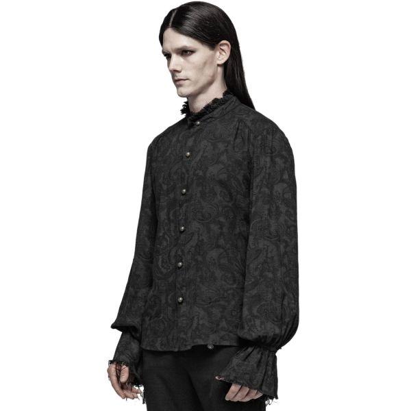 Dark Romantic Aristokraten Hemd mit Paisley Muster
