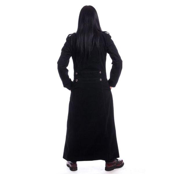 Gothic Samt Mantel im Uniform Style mit Westen Optik