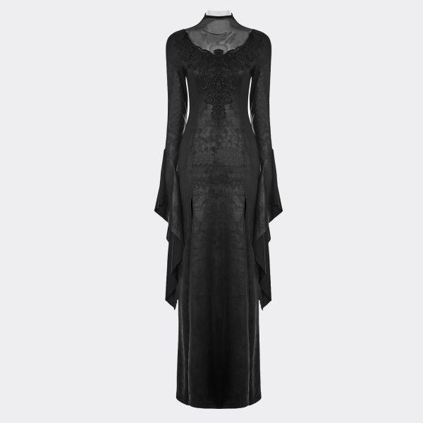Viktorianisches Punk Rave Kleid in Lederoptik