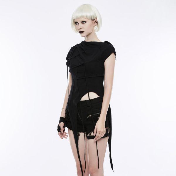 Punk Style Kapuzen Top in mystischem Hexen Look