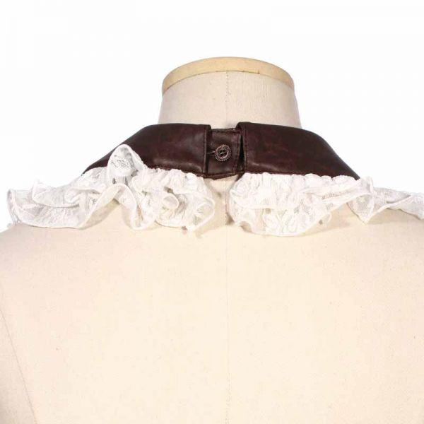 Steampunk Rüschenkragen mit Halsband und Armbändern