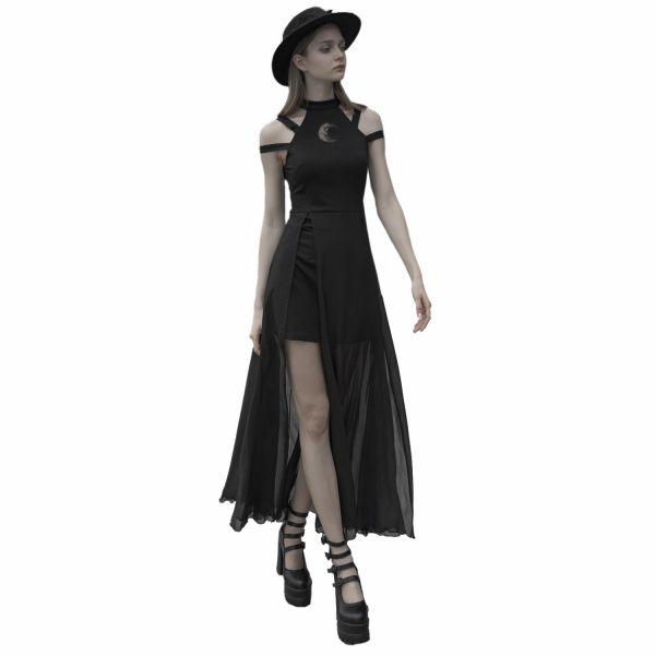 Layering Look Kleid mit Halbmond und Bondage Trägern