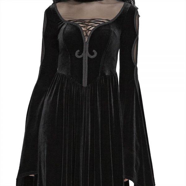 Viktorianisches Kleid im Layering Look mit Netz