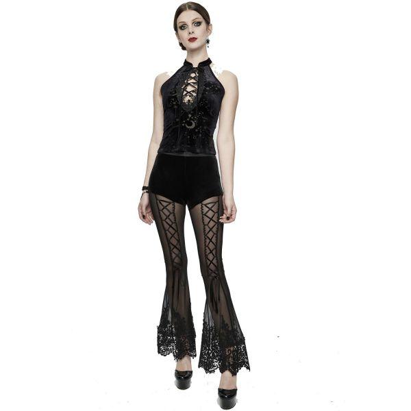 Devil Fashion Top aus Samt mit Sternenhimmel Motiv
