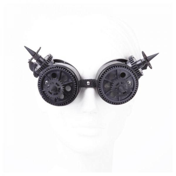 Steampunk Schweißerbrille mit Zahnrädern und Spikes