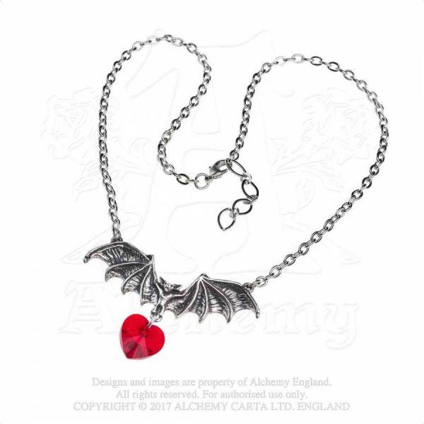 Fledermaus Kette - Vampire Loveheart