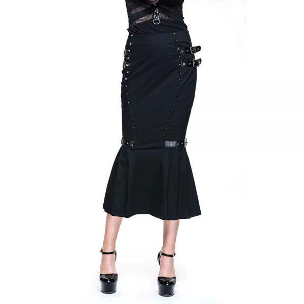Pencil Skirt mit Schnallen und Nieten im Military Style