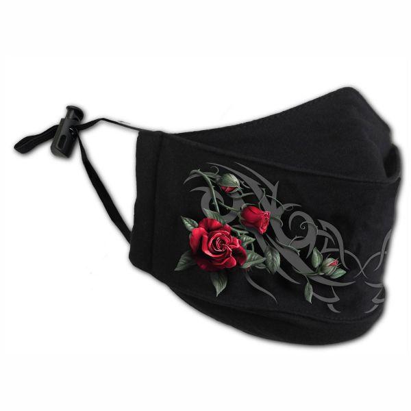 Tribal Rose Gesichtsmaske mit verstellbaren Schlaufen