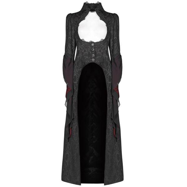 Viktorianischer Mantel mit brustfreiem Dekollete