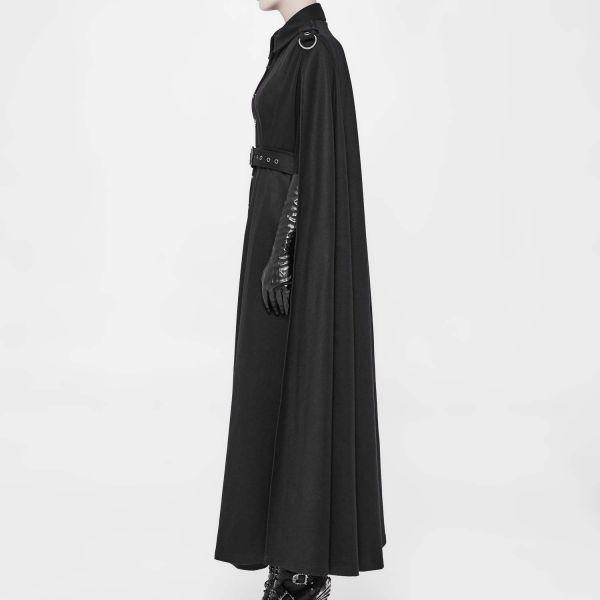 Military Style Trenchcoat Umhang mit Epauletten