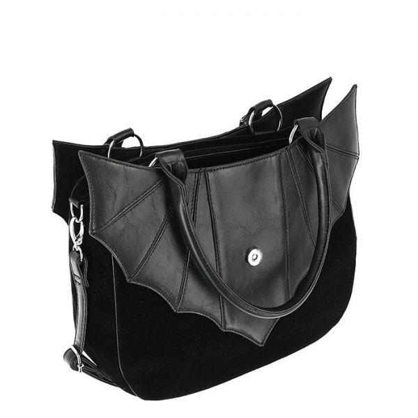 Fledermaus Gothic Handtasche mit Pentagramm