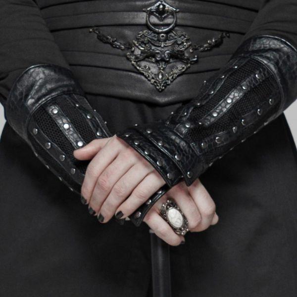 Warrior Armstulpen im Reptilienhaut Look mit Nieten
