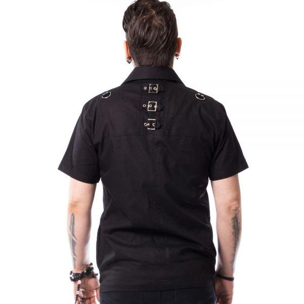 Hemd im Military Look mit Riemen und großen Taschen