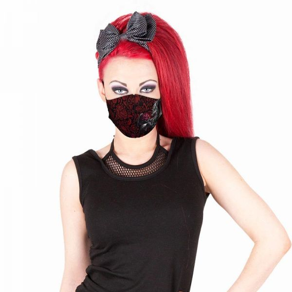 Dragon Rose Gesichtsmaske im Gothic Style