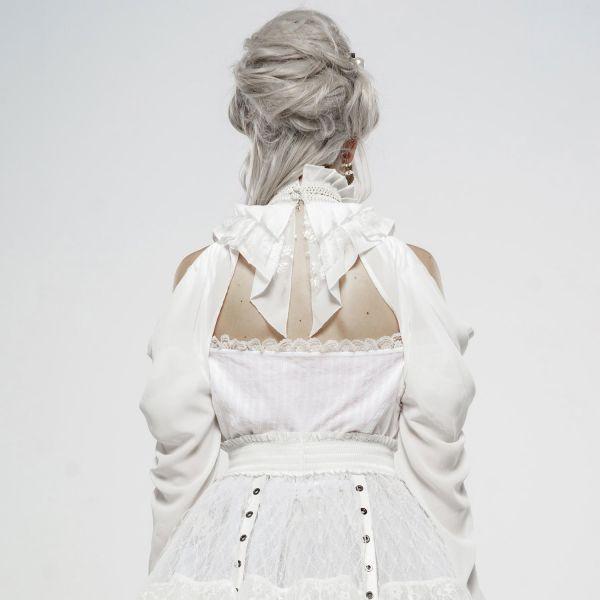Off-Shoulder Ärmel im Bolero Stil mit Rüschenkragen