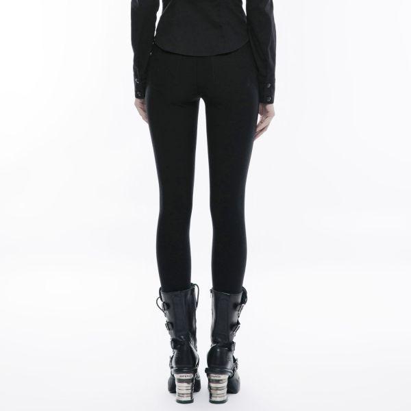 High Waist Leggings mit Zippern im Gothic Style