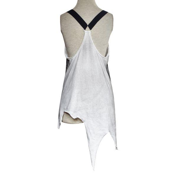 Casual Vintage Longtop asymmetrisch - White Ghoul