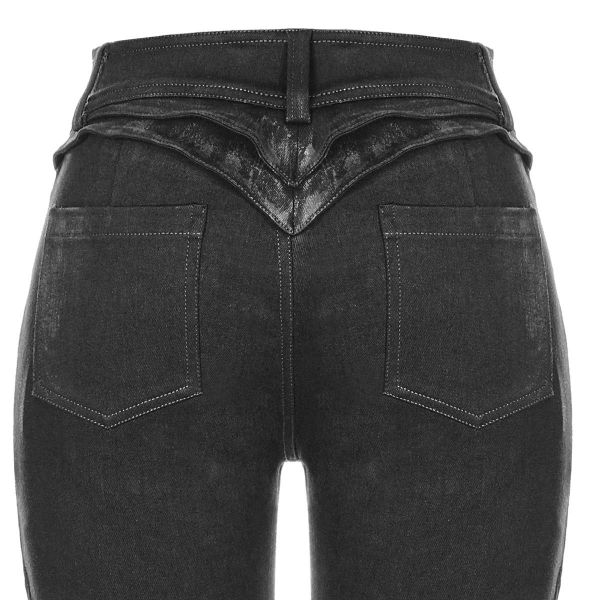Slim Fit Hose im Destroyed Denim Style mit Nieten