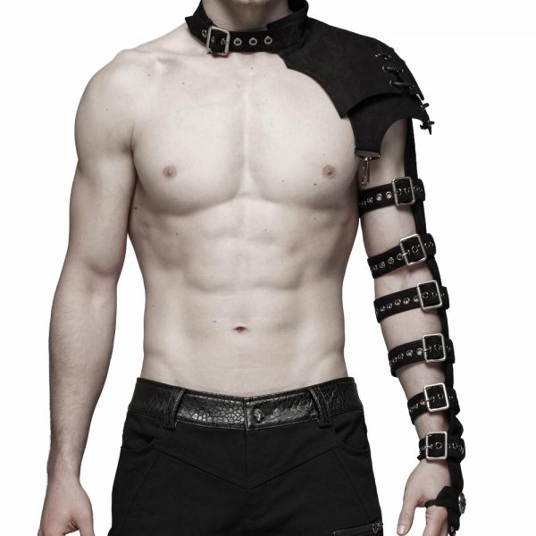 One-Arm Harness mit Schnallen im Schulter Rüstung Look