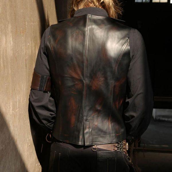 sehen attraktive Mode schnelle Farbe Steampunk Lederimitat Weste