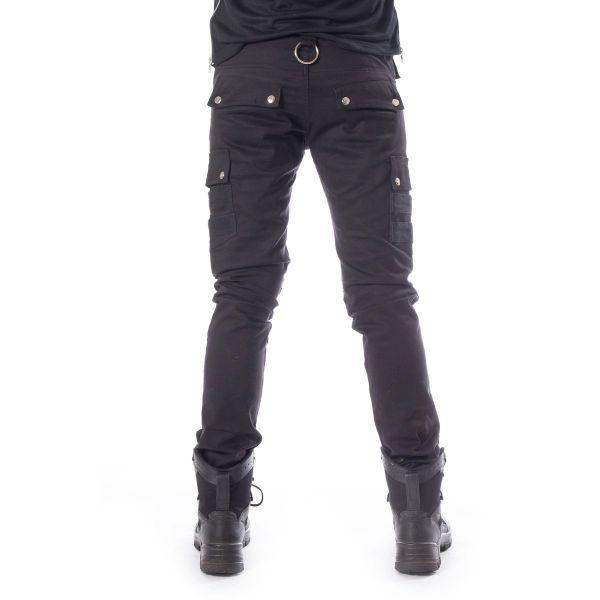 Hose im Daily Goth Style mit Beintaschen und Zippern