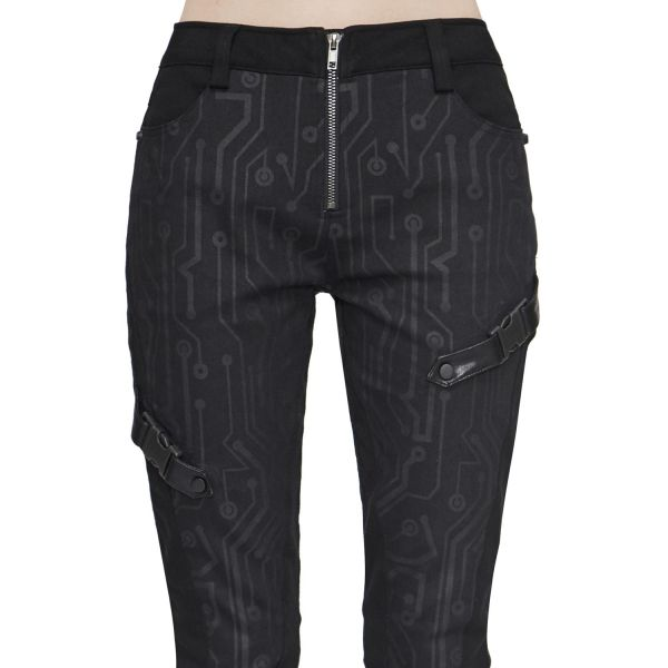 Industrial Skinny Hose mit Schaltkreis Muster