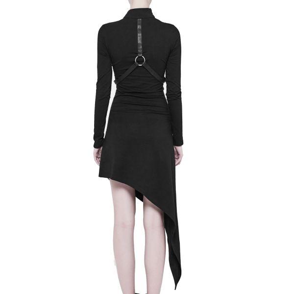 Asymmetrisches Industrial Kleid mit Bondages