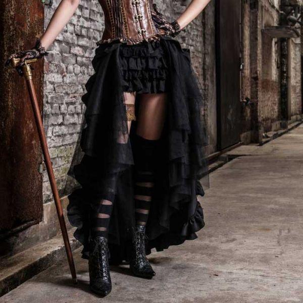 Gothic Lolita Minirock mit Rüschen und breitem Bund