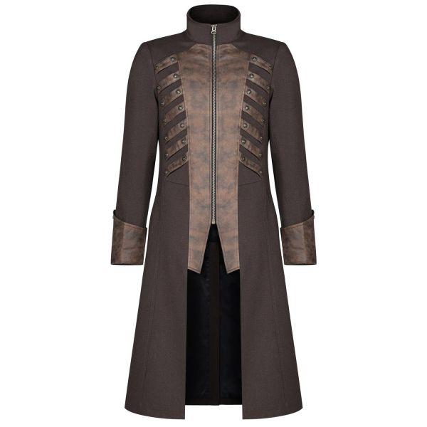 Steampunk Mantel im Uniform Look mit hohen Manschetten
