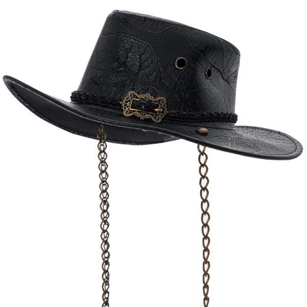 Western Hut in geprägter Lederoptik mit Hutband