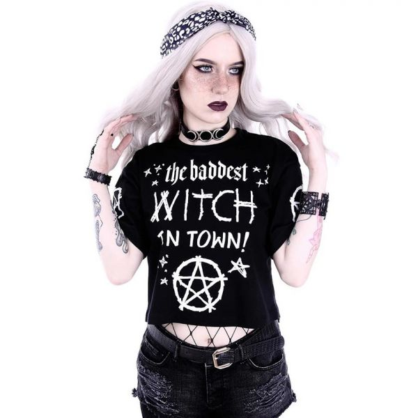 Nu Goth Shirt im Okkult Style - Baddest Witch in Town
