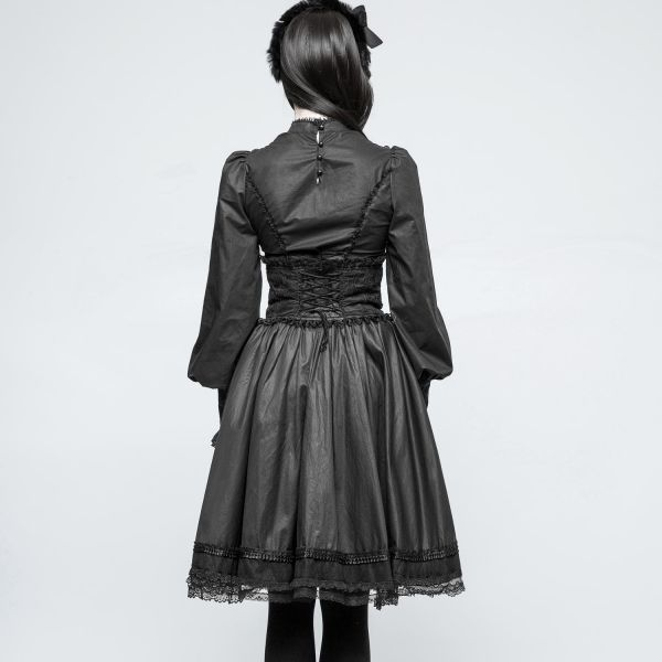 Gothic Lolita Rock im High Waist Bund im Corsagen Look