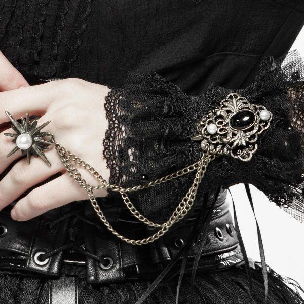 Barock Arm Manschetten mit Ornament und Chaostar Ring
